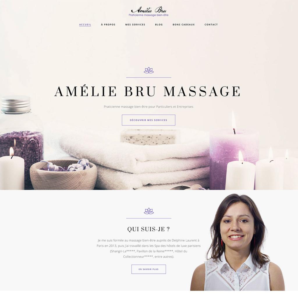 Amélie Bru - Praticienne massage bien-être