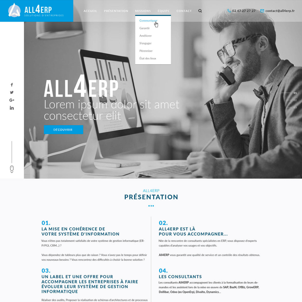All 4 ERP - Solutions d'entreprises
