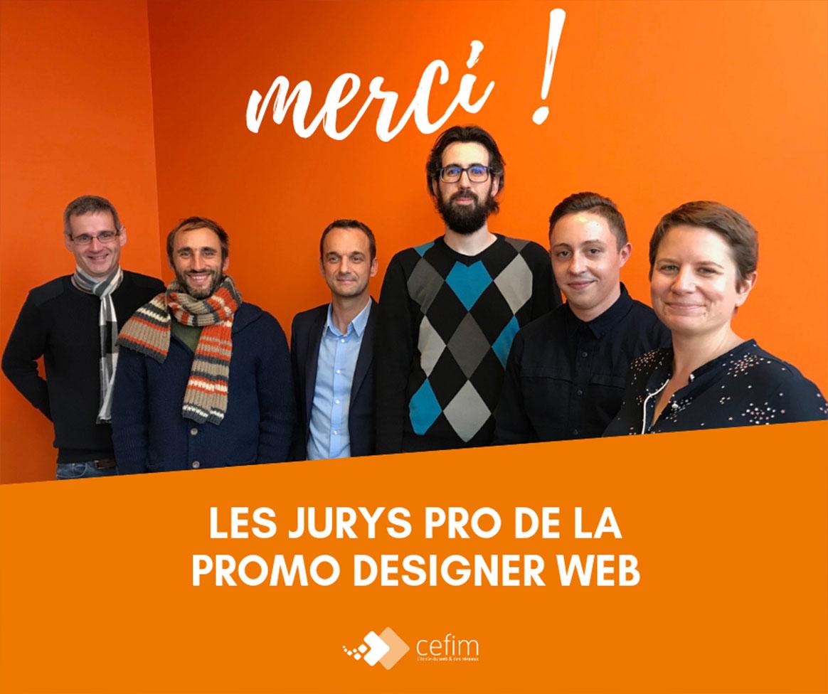 Jury professionnel au titre de designer web au CEFIM