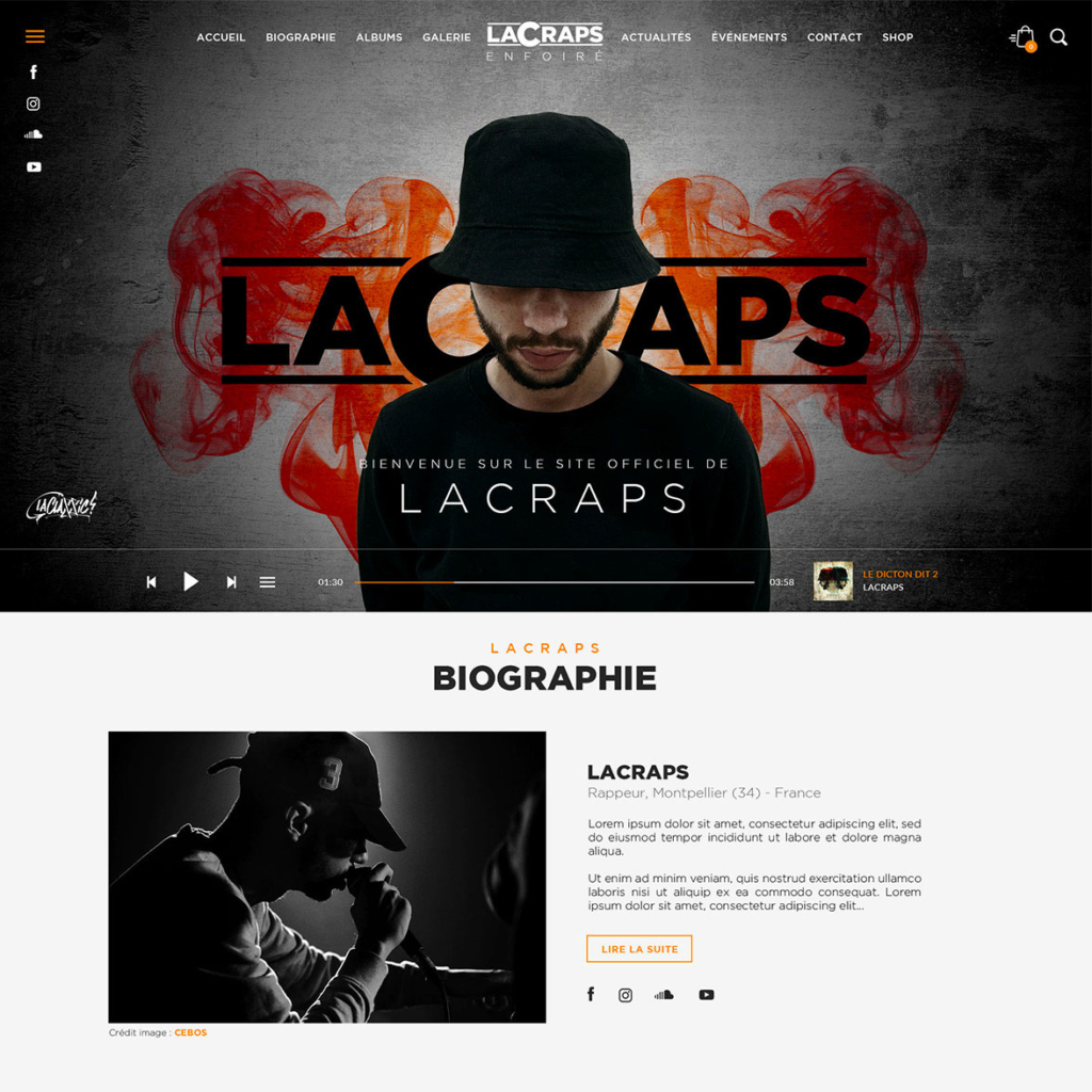 LaCraps - Site officiel